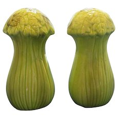 Vintage Tall Celery Salt and Pepper Shakers