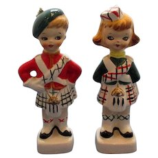 Vintage Scottish Children Salt and Pepper Shakers