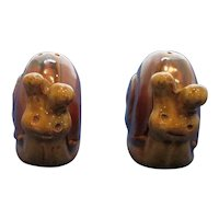 Vintage Pottery Snail Salt and Pepper Shakers