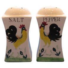 Vintage Large Rooster Salt and Pepper Shakers