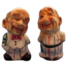 Happy Older Couple Salt and Pepper Shakers