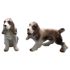 Vintage Springer Spaniel Salt and Pepper Shakers