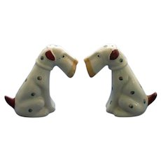 Vintage Airedale Terrier Salt and Pepper Shakers