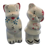 American Bisque Bear Couple Salt and Pepper Shakers