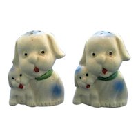 Momma Dog and Puppy Salt and Pepper Shaker Set