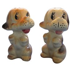 Friendly Spaniel Dog Salt and Pepper Shakers