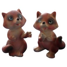 Vintage Victoria Ceramics Red Fox Salt and Pepper Shakers