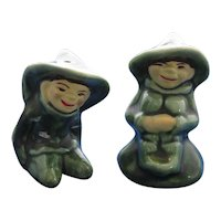 Smiling Elves Salt and Pepper Shakers