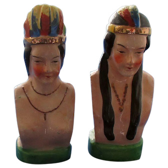American Indian Couple Salt and Pepper Shakers