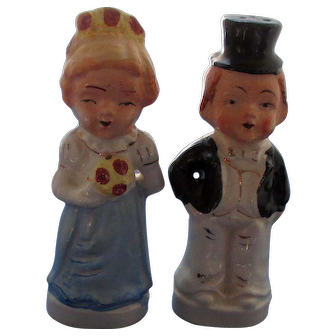 Married Couple Before and After Salt and Pepper Shakers