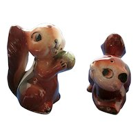 Vintage Chipmunk Salt and Pepper Shakers