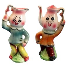 Anthropomorphic Coffee Pot and Creamer