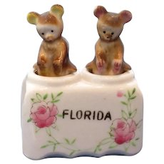 Vintage Nodder Bear Salt and Pepper Shaker Set