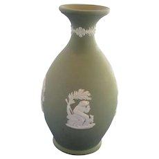 Small Green Jasperware Wedgwood Vase