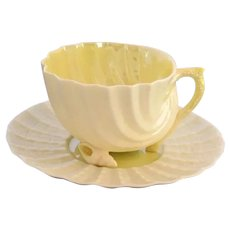 Belleek Neptune Shell Demitasse Cup and Saucer