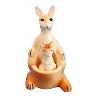 Vintage Kangaroo With Joey Salt and Pepper Shakers