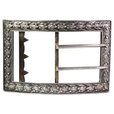 Antique Art Nouveau French Silver Belt Buckle c. 1890