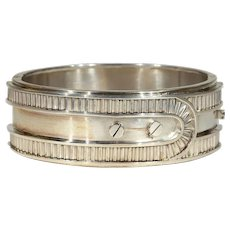 Victorian Buckle Bangle Sterling Silver