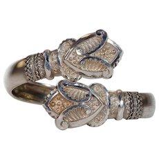 Antique Victorian Silver Bangle c. 1880