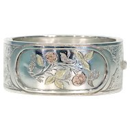 Antique Victorian Silver Bangle, Inscribed 1881