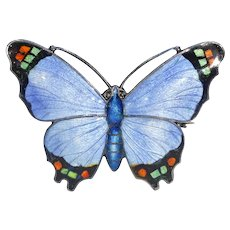 Art Deco Era Enamel Butterfly Brooch Pin