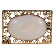 Arts & Crafts Opal Gold Brooch Pin by Henry George Murphy