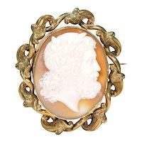 Antique Victorian Cameo Brooch of Jupiter