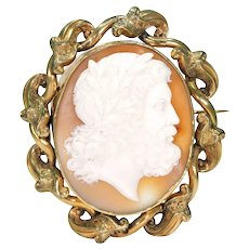 Antique Victorian Cameo Brooch of Jupiter