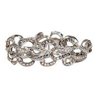 Vintage Art Deco Marcasite Silver Bracelet