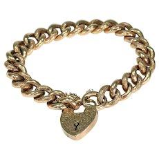 Victorian Curb Link Bracelet 9k Gold