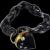 Antique Victorian Jet Bracelet Gold Moonstone Heart Lock
