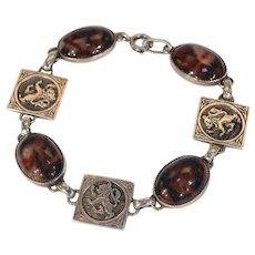 Vintage John Hart Scottish Agate Silver Bracelet