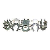 Vintage Sterling Silver Horseshoe Bracelet