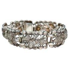 Antique Silver Pine Cone Bracelet