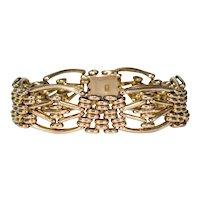 Antique Gold Victorian Gate Bracelet Lovely and Soft