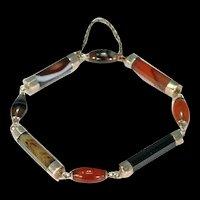 Victorian Scottish Agate Gold Bracelet