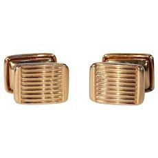Vintage Art Deco French Gold Cufflinks