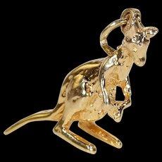 Vintage 14k Gold Kangaroo Charm Pendant