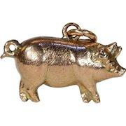 Antique Victorian Gold Pig Charm Hallmarked 1901