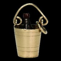 Antique Champagne in Bucket Gold Charm