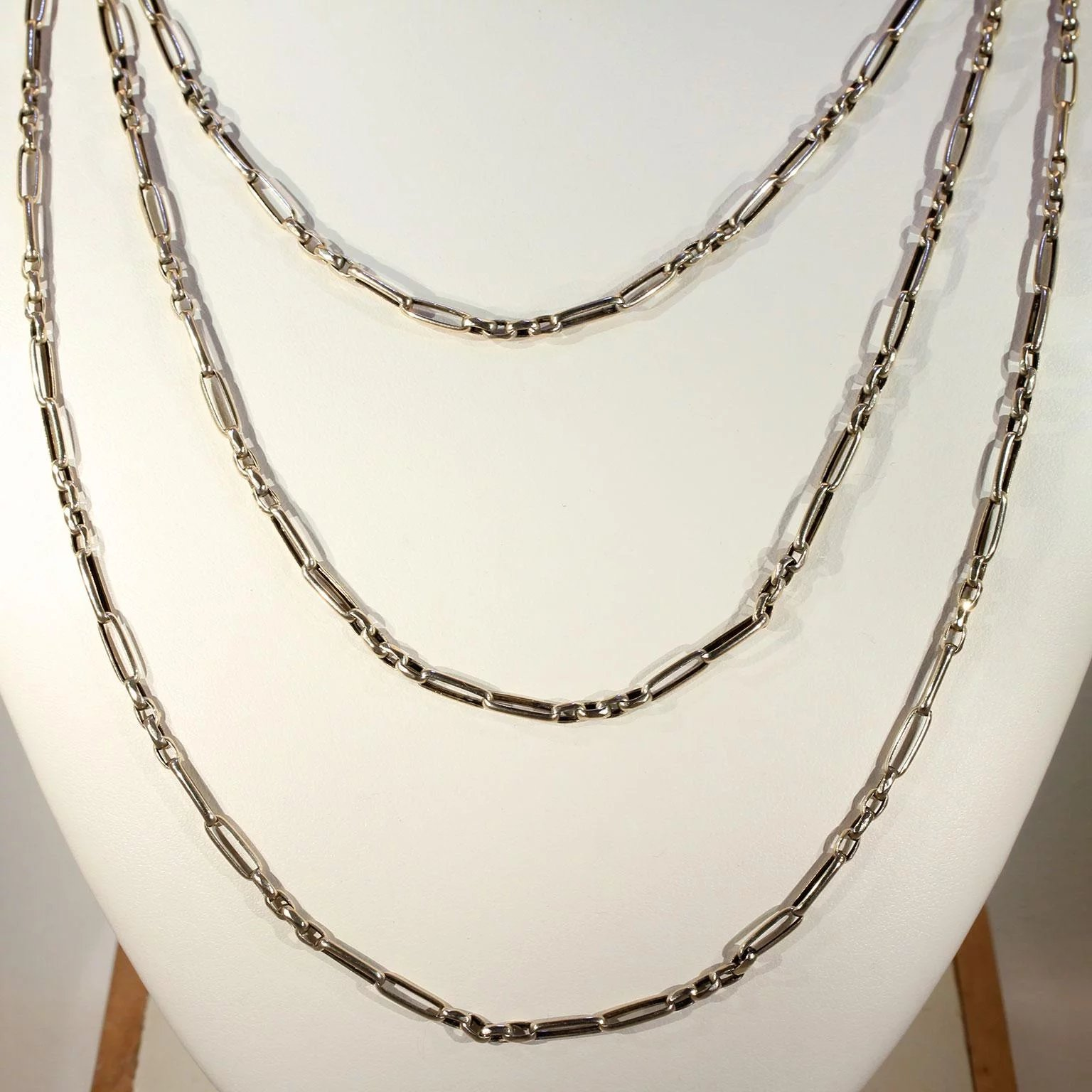 Antique Victorian English Long Guard Chain Necklace