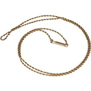 Antique 15k Gold Chain Necklace 18.25 inches