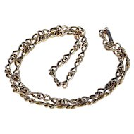 Victorian Gold Chain 18 inches Box Clasp Twisted Link