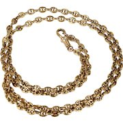 Antique Victorian Anchor Link Gold Chain Heavy