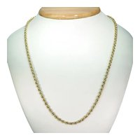 Hefty Victorian 15k Gold Chain Necklace 22 inches long
