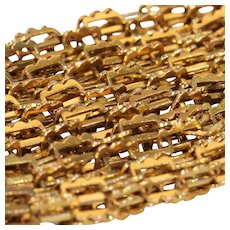 Fabulous Early Victorian 15k Gold Chain 20 inches Circa 1840
