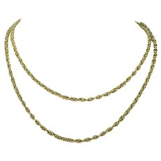 Antique French 18k Gold 32 inch Chain Necklace