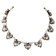 Vintage South African Silver Collar Necklace in 980 Silver