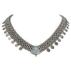 Antique Victorian Sterling Silver Collar Necklace