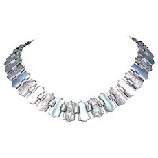 Antique Victorian Silver Collar Necklace